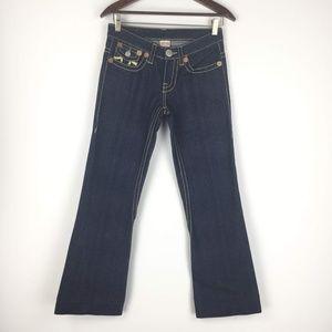 True Religion Size 27 Joey Big T Flare Jeans